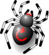 Illustration: spider with browser refresh icon