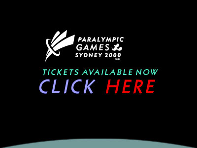 Web banner ad design sample: Paralympic Games, Sydney, Australia