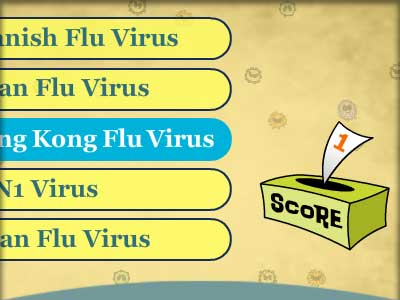 Educational game sample: CDPH Flu Achoo