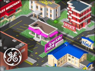 3D illustration sample: GE city website