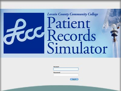 Interactive learning simulation: Lorain County Community College Patient Records Simulator
